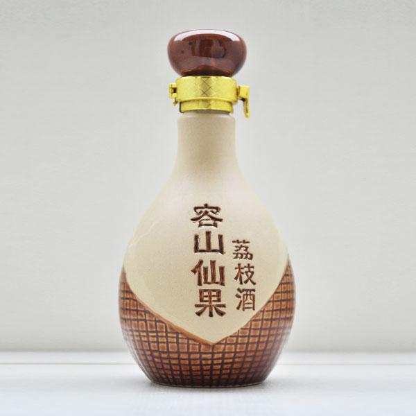 陕西容山仙果素烧陶瓷酒瓶