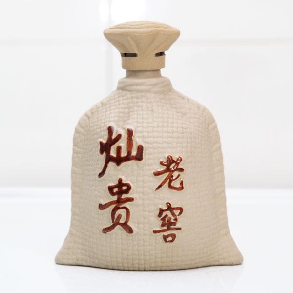 陕西灿贵老窖素烧陶瓷酒瓶