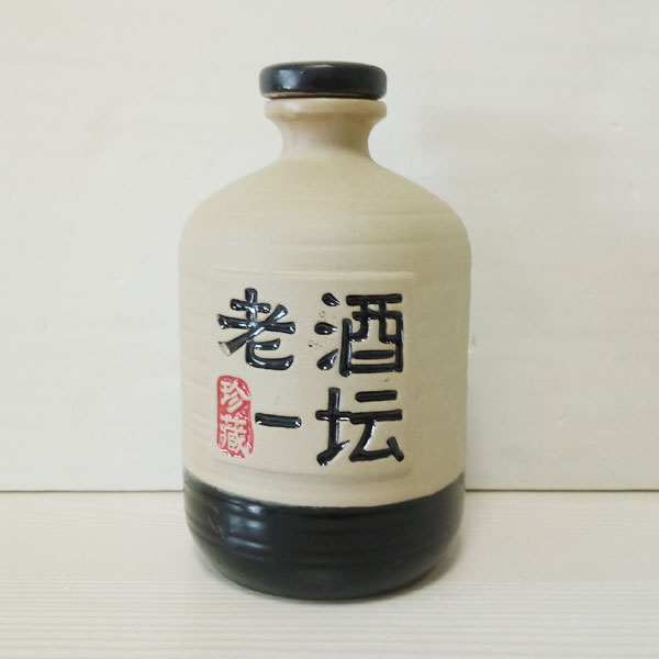 陕西老酒一坛白色素烤陶瓷瓶