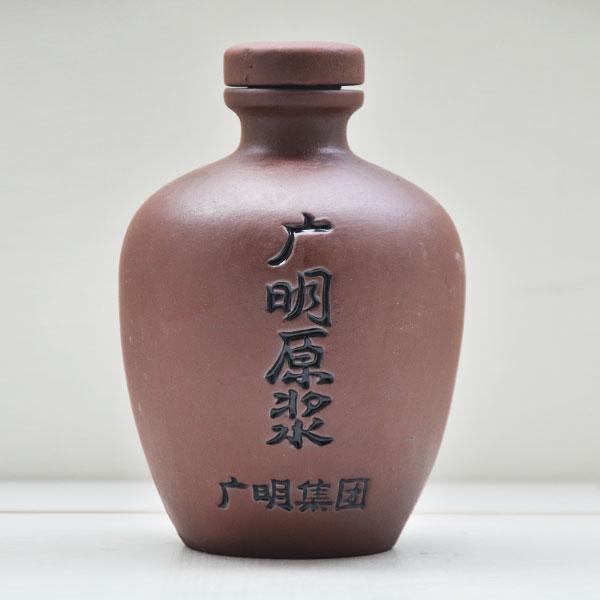 陕西广明原浆紫砂陶瓷酒瓶