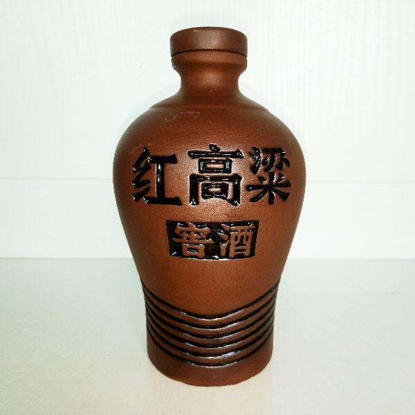 红高梁窖酒紫砂陶瓷瓶