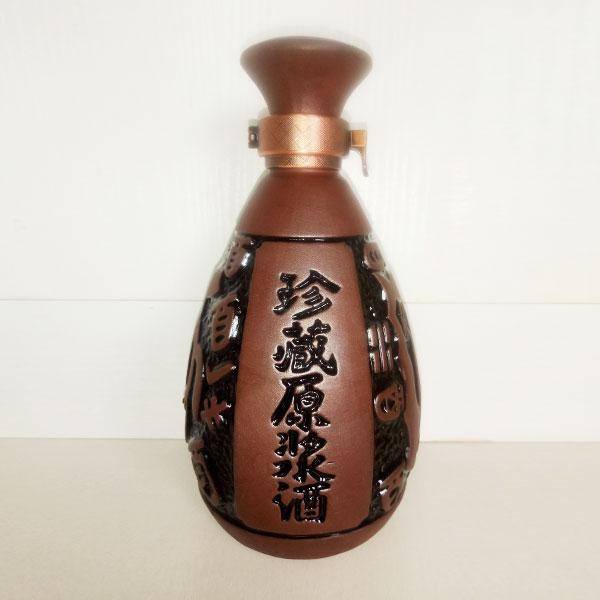 贵州珍藏原浆紫砂陶瓷酒瓶