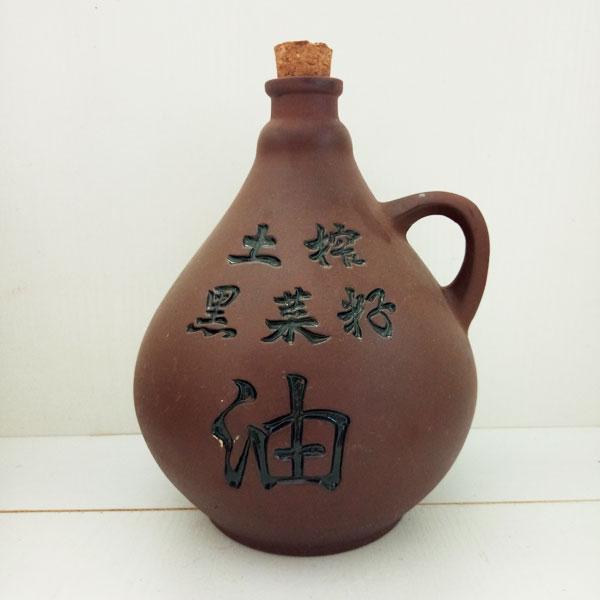 陕西土榨菜籽油紫砂陶瓷瓶