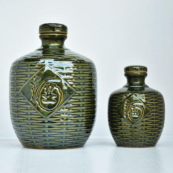贵州高档西绿釉竹编瓶