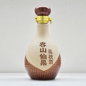容山仙果素烧陶瓷酒瓶