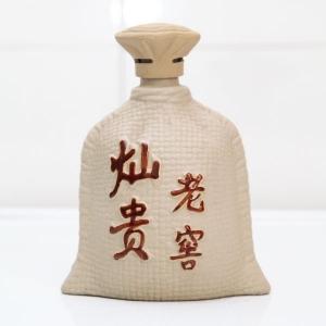灿贵老窖素烧陶瓷酒瓶