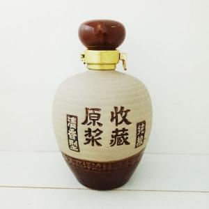 收藏原浆素烧陶瓷酒瓶
