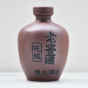 纯粮老窖紫砂陶瓷酒瓶