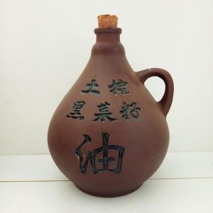 土榨菜籽油紫砂陶瓷瓶
