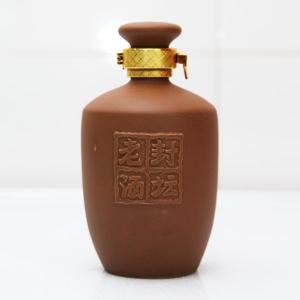 高档封坛老酒紫砂陶瓷酒瓶