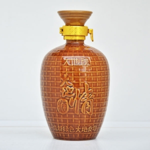 大地情定制陶瓷酒瓶
