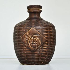 通用仿古竹编陶瓷酒瓶