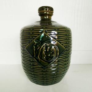 高档仿古竹编酒字陶瓷酒瓶