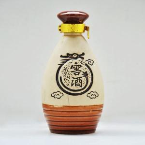窖酒白泥素烧陶瓷酒瓶
