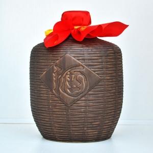 通用仿古竹编制陶瓷酒