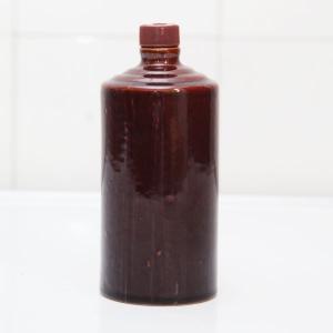 通用朱红色陶瓷酒瓶