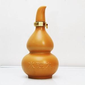 高档水生木陶瓷酒瓶