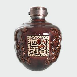 高档巴人酒谷陶瓷酒瓶