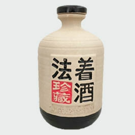 法着珍藏白色素烤陶瓷瓶