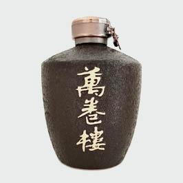 高档万卷楼陶瓷酒瓶